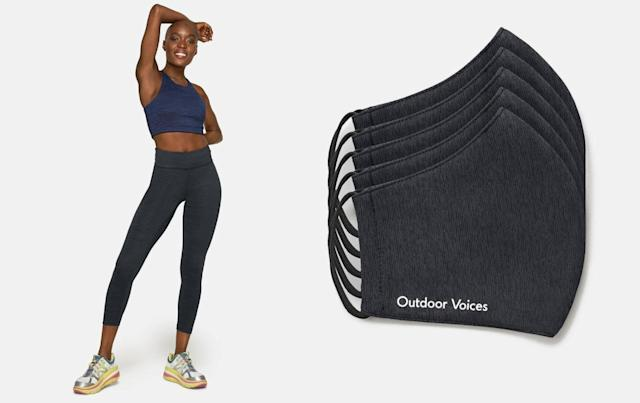 Outdoor Voices TechSweat leggings and mask (Photo: Outdoor Voices)