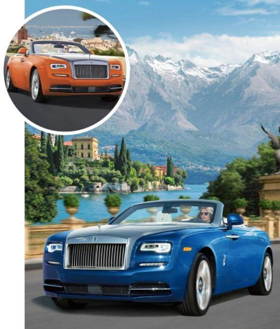 """Each of theseExclusive Rolls-Royce Dawn Drophead Coupés is """"<a href=""""http://www.neimanmarcus.com/NM/FANTASY-GIFT-6-Rolls-Royce/cat56140883/c.cat?icid=jp_FantasyGifts_101717"""" target=""""_blank"""">distinctly different</a>,"""" according to Neiman Marcus: The blue one is inspired by <a href=""""https://www.huffingtonpost.com/entry/why-you-should-travel-to-lake-como-during-the-off-season_us_564decc8e4b08c74b7348ea4"""">Lake Como</a>,while the orange one is inspired by Saint-Tropez. You can buy them separately, but why stop at one?<i><a href=""""http://www.neimanmarcus.com/NM/FANTASY-GIFT-6-Rolls-Royce/cat56140883/c.cat"""" target=""""_blank"""">$439,625 (blue) and $445,750 (orange) at Neiman Marcus</a></i>"""