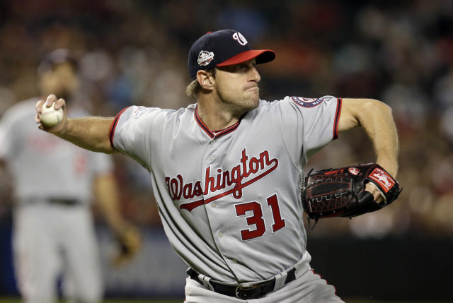 Max Scherzer is pitching like he wants a third straight Cy Young award. (AP Photo)