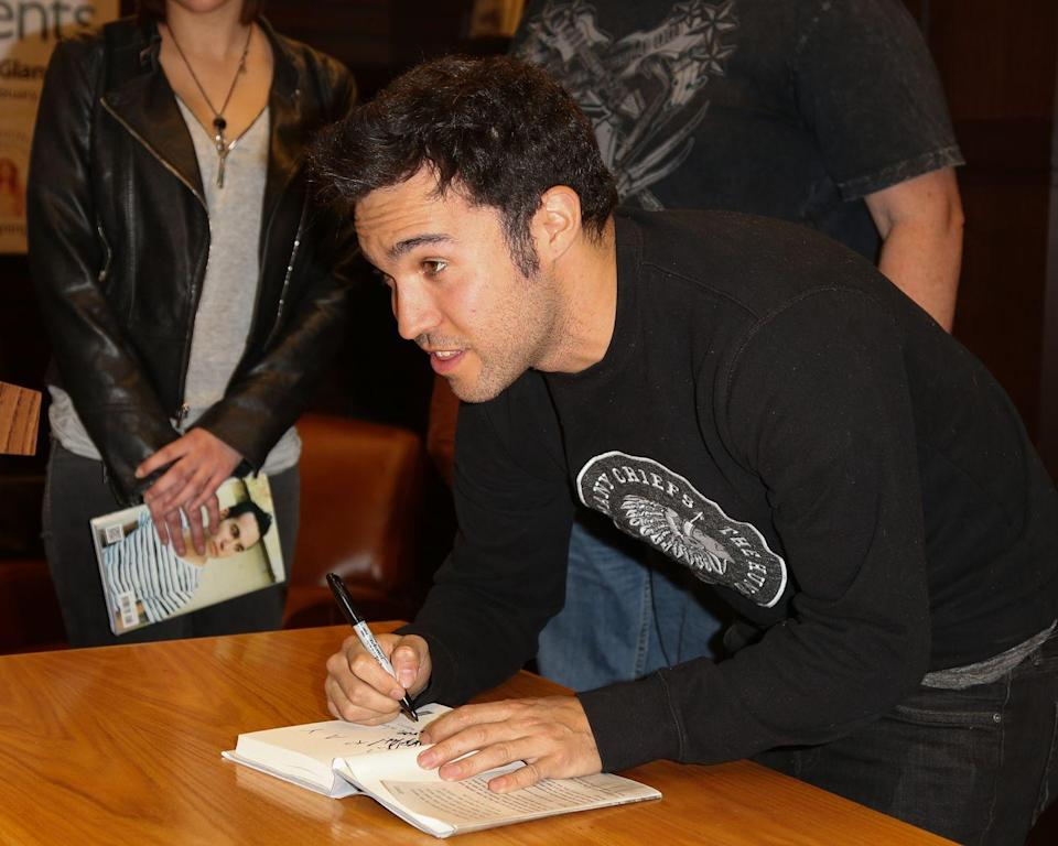 """<p>Fall Out Boy bassist Pete Wentz released his sem-autobiographical novel, <em>Gray</em>, in January 2013. The book centers on a young man who also happens to be a rockstar and also has some issues with drugs, women, and fame that he needs to work out. </p><p>The musician told the <em><a href=""""https://www.independent.co.uk/arts-entertainment/music/features/fall-out-boy-this-is-hardcore-475858.html"""" rel=""""nofollow noopener"""" target=""""_blank"""" data-ylk=""""slk:Independent"""" class=""""link rapid-noclick-resp"""">Independent</a></em> that writing is another outlet for him. """"My inspiration and my ideas don't begin and end at the beginning and the ending of a song,"""" he said. """"It is too limiting.""""</p><p>Despite not-so-great reviews (The <a href=""""https://aux.avclub.com/pete-wentz-with-james-montgomery-gray-1798175683"""" rel=""""nofollow noopener"""" target=""""_blank"""" data-ylk=""""slk:AV Club's"""" class=""""link rapid-noclick-resp"""">AV Club's</a> critic gave <em>Gray</em> an """"F""""), Pete seems to have been able to say thanks for the memories to the project and moved on to bigger and better things. Namely, <a href=""""https://www.rollingstone.com/music/music-news/fall-out-boy-reunite-with-new-single-62367/"""" rel=""""nofollow noopener"""" target=""""_blank"""" data-ylk=""""slk:Fall Out Boy"""" class=""""link rapid-noclick-resp"""">Fall Out Boy</a>'s surprise announcement that they were reuniting in February 2013. </p><p><a class=""""link rapid-noclick-resp"""" href=""""https://www.amazon.com/Gray-Pete-Wentz/dp/1416567828?tag=syn-yahoo-20&ascsubtag=%5Bartid%7C2140.g.33987725%5Bsrc%7Cyahoo-us"""" rel=""""nofollow noopener"""" target=""""_blank"""" data-ylk=""""slk:Buy the Book"""">Buy the Book</a></p>"""