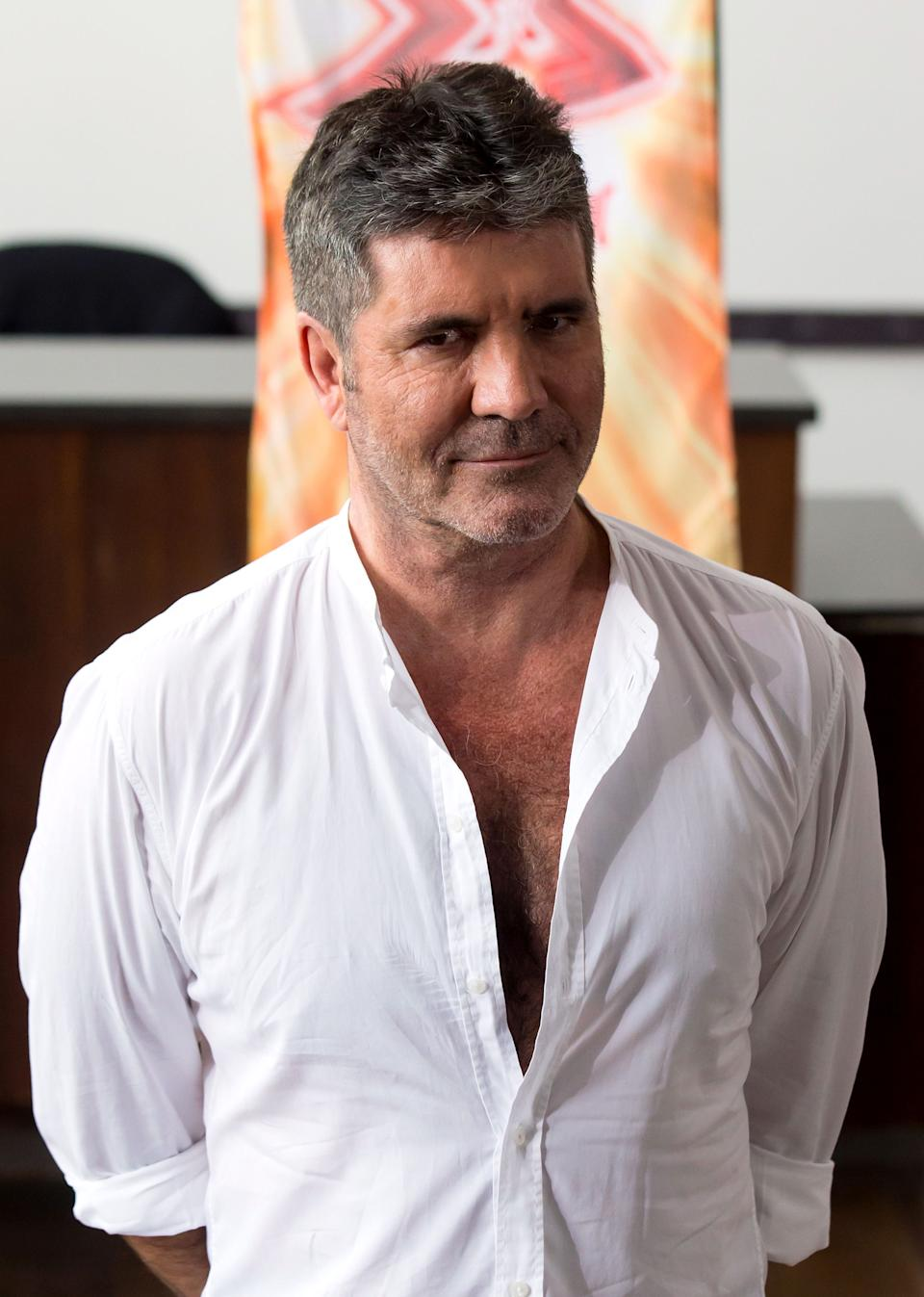 Simon Cowell attending X Factor filming at the Titanic Hotel, Liverpool. (Photo by Jon Super/PA Images via Getty Images)