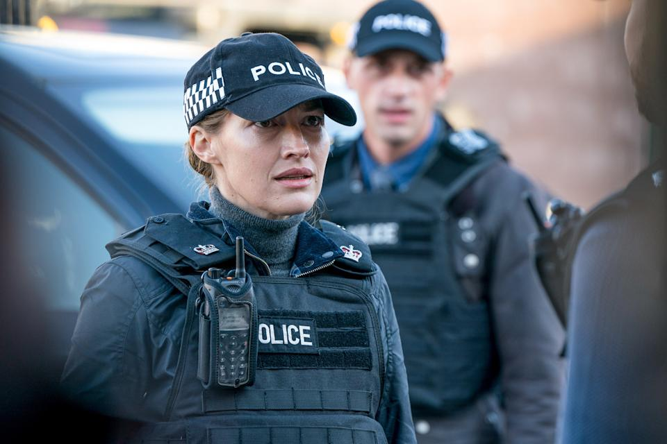 WARNING: Embargoed for publication until 00:00:01 on 13/04/2021 - Programme Name: Line of Duty S6 - TX: n/a - Episode: Line Of Duty - Ep 5 (No. n/a) - Picture Shows: *NOT FOR PUBLICATION UNTIL 00:01HRS, TUESDAY 13TH APRIL, 2021*  DCI Joanne Davidson (KELLY MACDONALD), DS Chris Lomax (PERRY FITZPATRICK) - (C) World Productions - Photographer: Steffan Hill