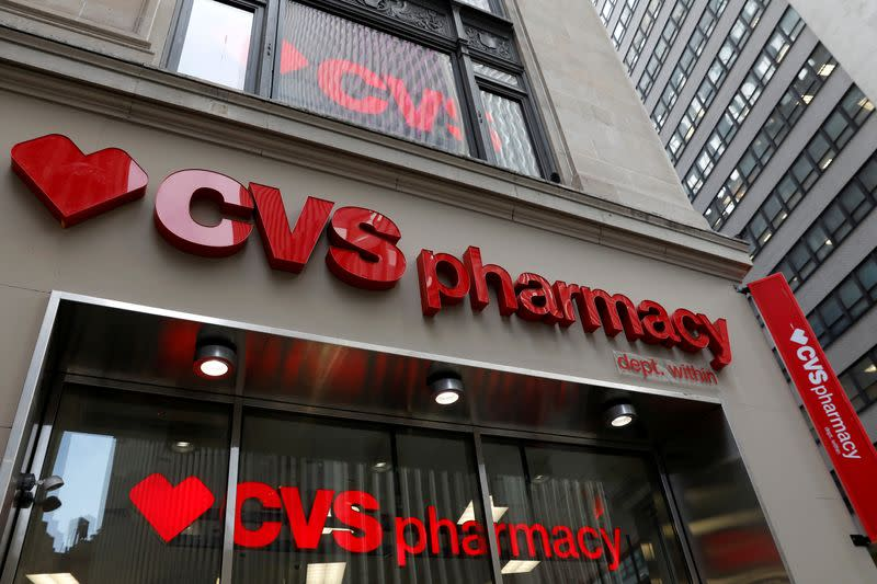 FILE PHOTO: A CVS Pharmacy store is seen in the Manhattan borough of New York City