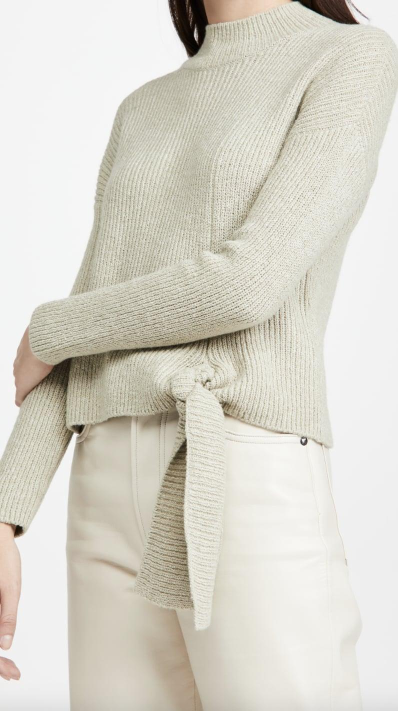 <p>We love the shade of this <span>Naadam Side Tie Mock Neck Sweater </span> ($245).</p>