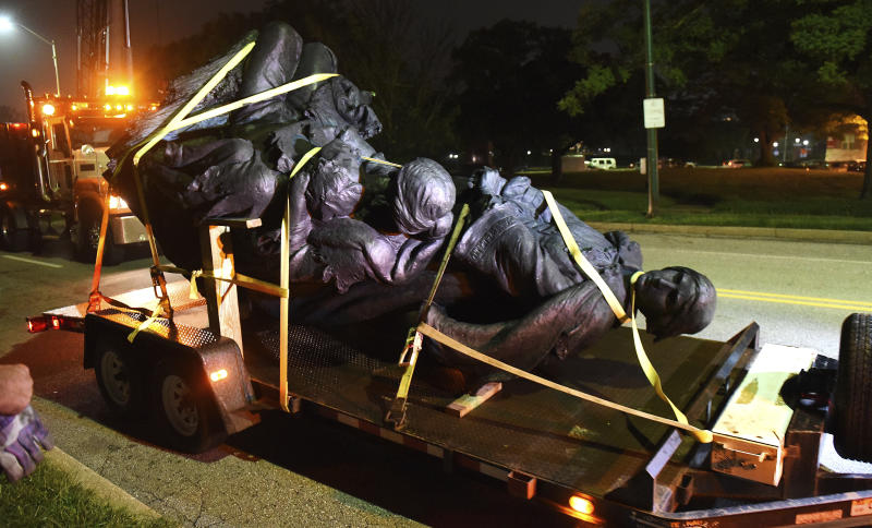 Racist Confederate Statues Removed In Baltimore
