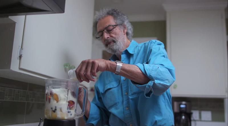 Howard Cohen makes a smoothie with human breastmilk