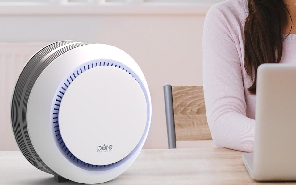 As I live and breathe! The PureZone Halo HEPA Air Purifier is just $65! (Photo: Pure Enrichment)