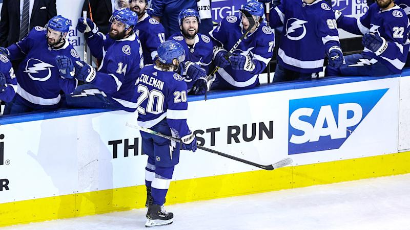 Lightning's Blake Coleman takes air, scores unreal goal in Game 2 vs. Bruins