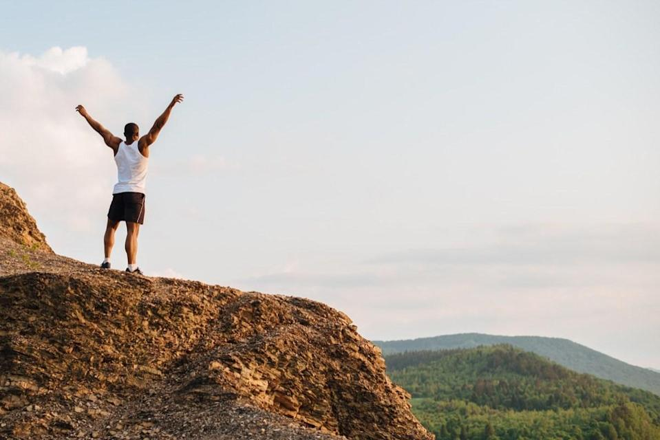 """If you can't stop thinking about something negative, tell those toxic thoughts to take a hike—literally. A 2015 study published in the journal <em>Proceedings of the National Academy of Sciences of the United States of America</em> had participants take a <a href=""""https://www.pnas.org/content/112/28/8567"""" rel=""""nofollow noopener"""" target=""""_blank"""" data-ylk=""""slk:90-minute walk"""" class=""""link rapid-noclick-resp"""">90-minute walk</a> through a natural environment or a city. Those who had stepped into nature reported ruminating less and had less activity in brain regions associated with mental illness."""