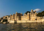 It was built atop a hill, in a fusion of the Rajasthani and Mughal architectural styles, providing a panoramic view of the city and its surroundings.