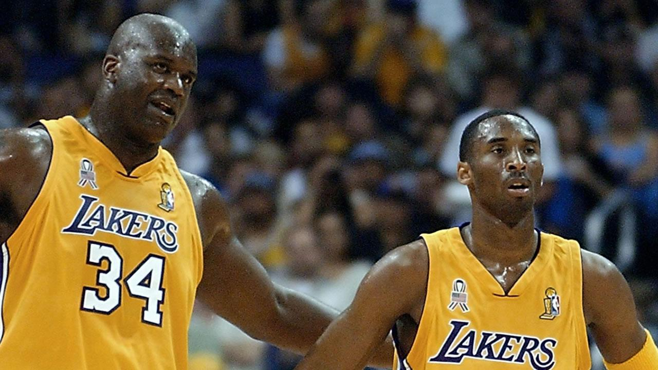 Shaquille O'Neal was among NBA greats who took to the podium at Staples Center to eulogize Kobe Bryant.