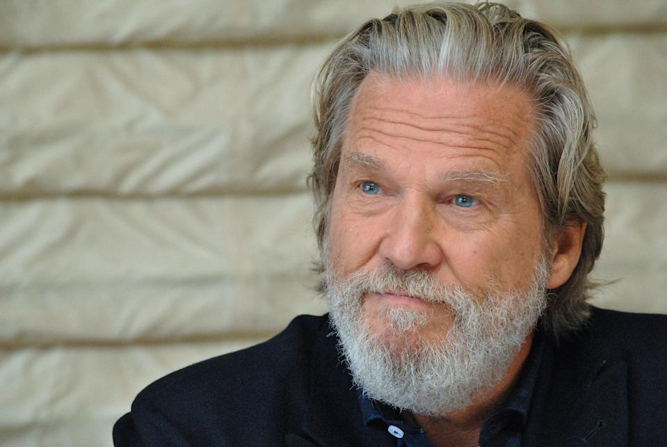 "Jeff Bridges at the Hollywood Foreign Press Association press conference for ""Bad Times at the El Royale"" at the Hollywood Roosevelt Hotel on September 23, 2018 in Hollywood, California. (Photo by Yoram Kahana/Shooting Star/Sipa USA) *** NO TABLOID PUBLICATIONS IN THE USA ***"