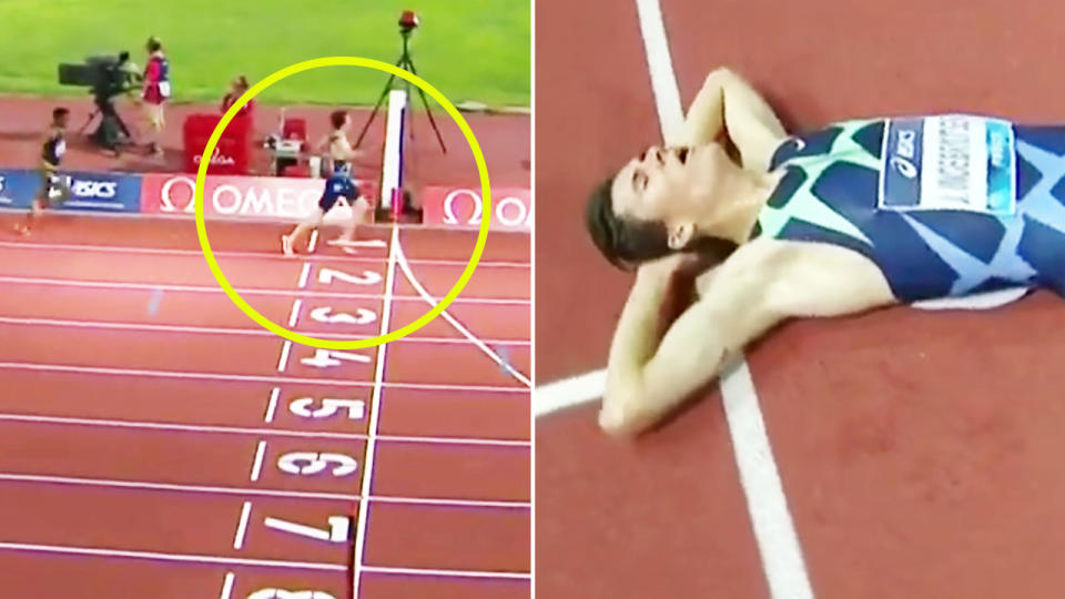 Jakob Ingebrigtsen, pictured here after shocking the field to win the 5000m in Florence.