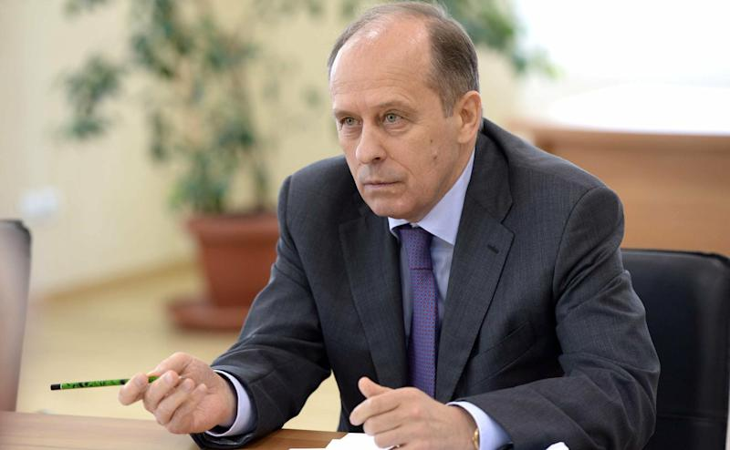 Aleksander Bortnikov, head of the Russian Federal Security Service, at President Vladimir Putin's meeting last August with the Russian Security Council in Moscow. (Photo: Russian Look via ZUMA Wire)