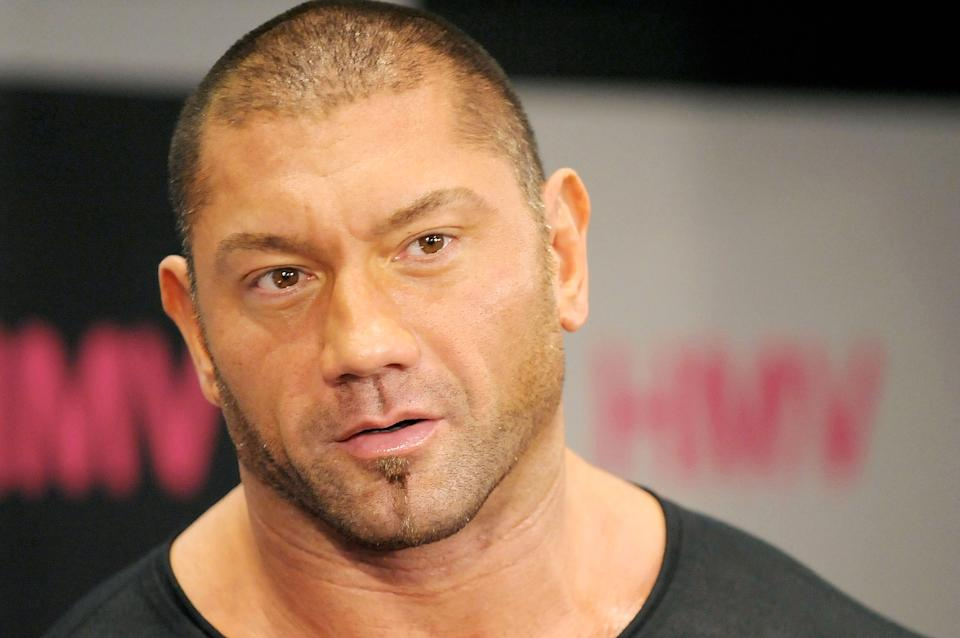 TOKYO - MARCH 05:  WWE wrestler Dave Batista appears at fan event at HMV Shibuya on March 5, 2009 in Tokyo, Japan.  (Photo by Jun Sato/WireImage)