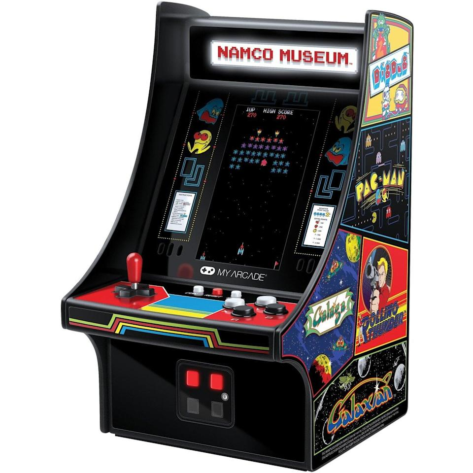 <p>The <span>My Arcade Namco Museum Mini Player Handheld Game</span> ($104) will do in lieu of the full-sized version.</p>