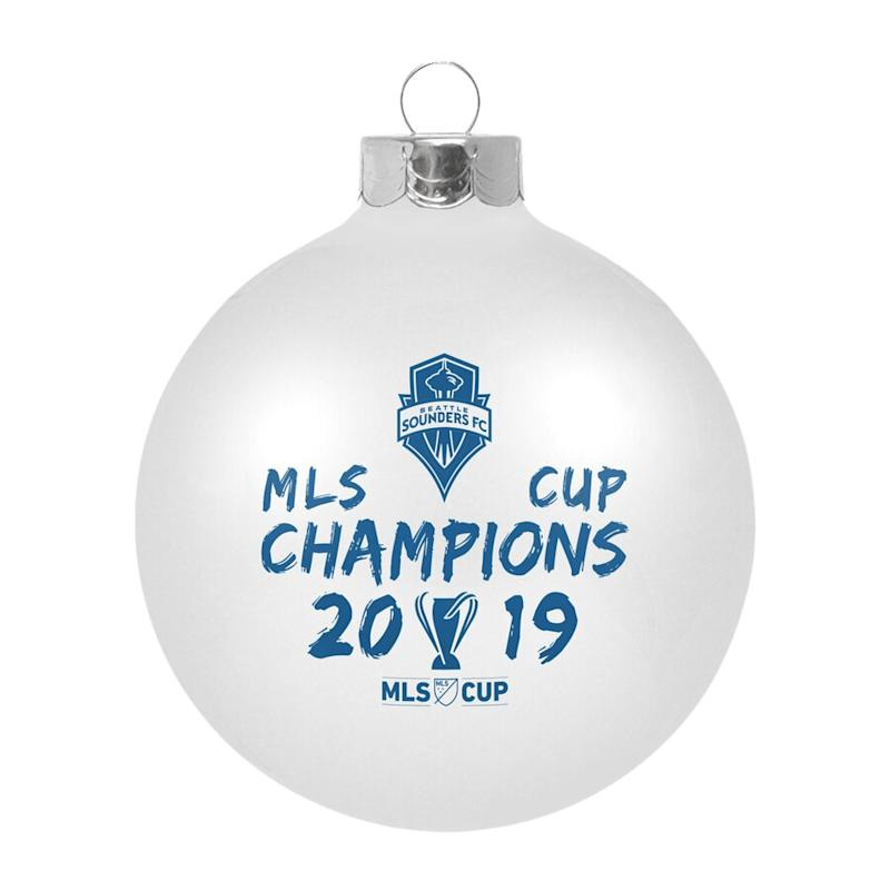 Sounders FC 2019 MLS Cup Champions Glass Ornament