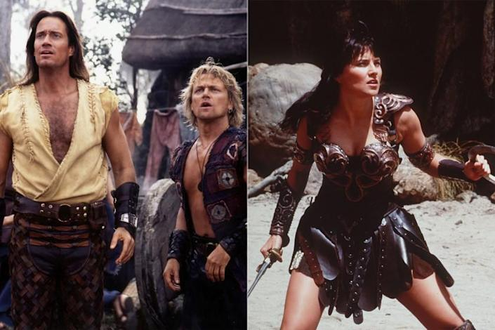 "The show: Sibling rivalry and family drama take an epic turn in ""Hercules,"" where Hercules (Kevin Sorbo), the half-mortal son of Zeus, travels ancient Greece along with his friend Iolaus (Michael Hurst). Often, the heroes have to save the people they encounter from warlords or Hercules' Olympian family. The spinoffs: Xena (Lucy Lawless), introduced in ""Hercules"" as a warlord and villain, seeks redemption for her crimes in ""Xena: Warrior Princess."" She is accompanied by Gabrielle (Renee O'Connor) who helps her stay focused on ""the greater good"" throughout their journey. Another spinoff, ""Young Hercules,"" is a prequel series that follows Hercules (Ryan Gosling) while he attends a youth warrior academy where he befriends Iolaus (Dean O'Gorman) and Jason (Chris Conrad). The show aired for one season from 1998 to 1999."