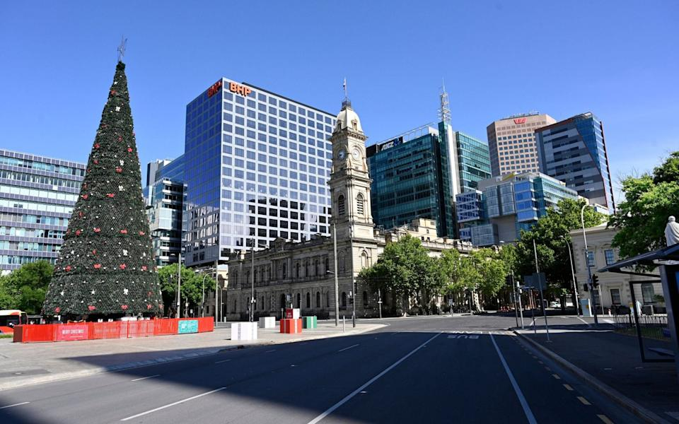 An empty street on the first day of lockdown in Adelaide - Shutterstock