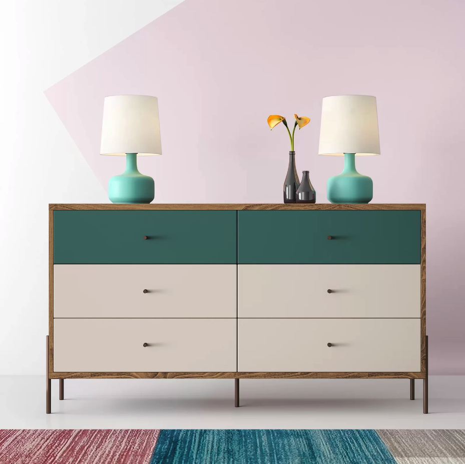 "$530, Wayfair. <a href=""https://www.wayfair.com/furniture/pdp/hashtag-home-alviso-6-drawer-double-dresser-w001465009.html"">Get it now!</a>"