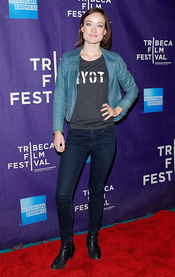 """Olivia Wilde attends """"The Rider And The Storm"""" Screening during the Shorts Program at the 2013 Tribeca Film Festival on April 22, 2013 in New York City."""
