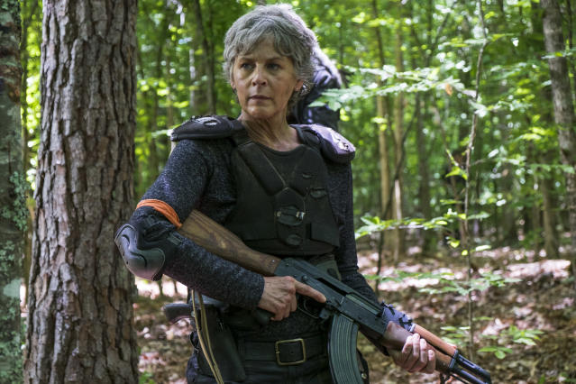<p>Melissa McBride as Carol Peletier in AMC's <i>The Walking Dead</i>.<br>(Photo: Gene Page/AMC) </p>