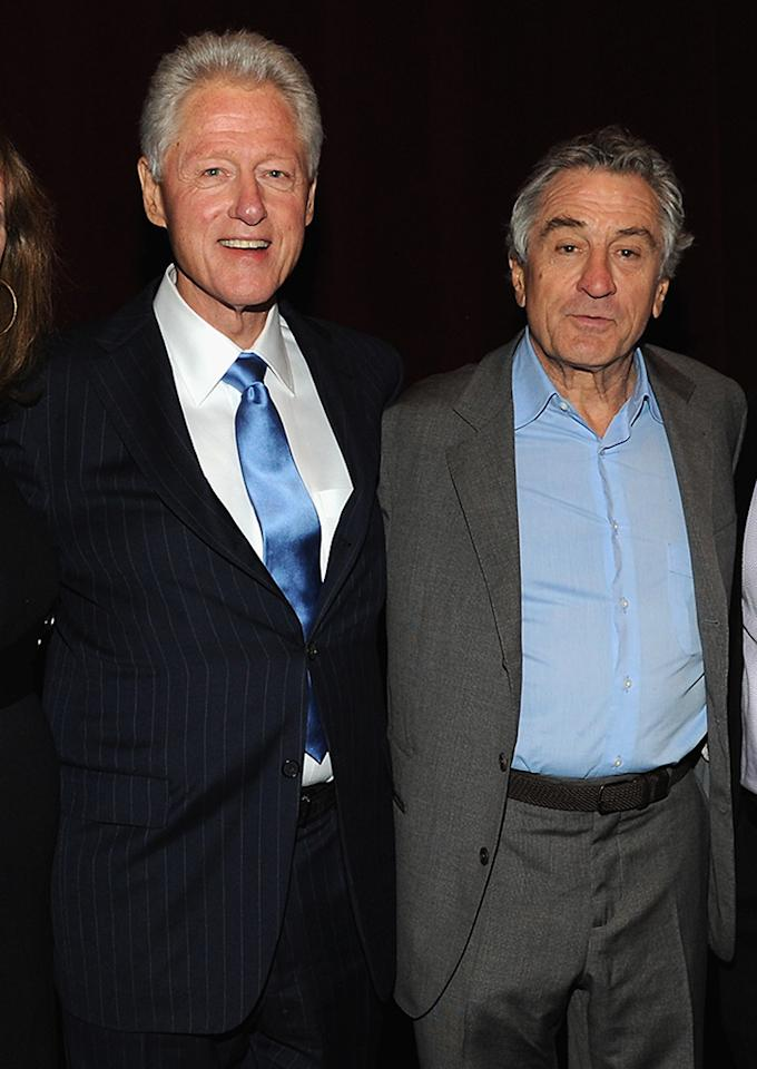 "Bill Clinton and Robert De Niro attend ""Bridegroom"" Premiere during the 2013 Tribeca Film Festival at SVA Theater on April 23, 2013 in New York City."