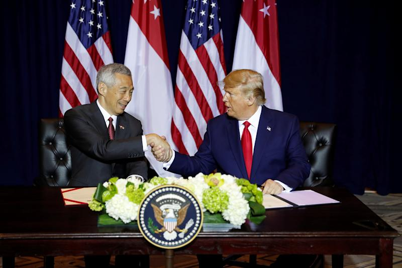"Commenting on Singapore's situation amid the ongoing US-China trade war, Lee said that it presents a ""problem for the world""."