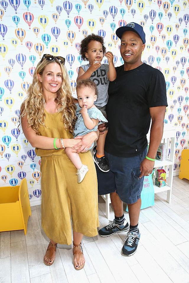 Donald Faison and CaCee Cobb with their children, Rocco and Wilder, last year. (Photo: Jonathan Leibson/Getty Images for Safe Kids Worldwide)