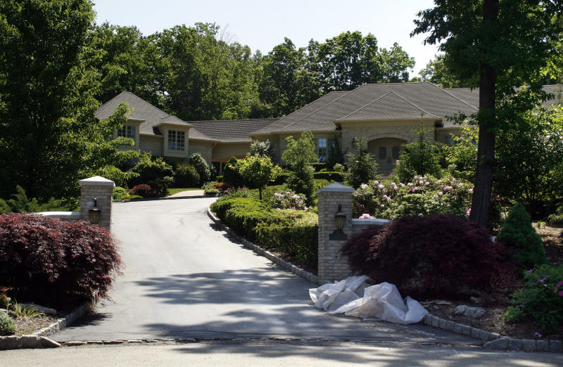 The house used during the filming of television series 'The Sopranos' owned by fictitious mob boss Tony Soprano, in the secluded suburb of North Caldwell, New Jersey. Photo: Chris Wiessner/Reuters