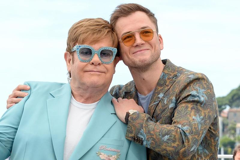 Elton John and Taron Egerton | Stephane Cardinale/Corbis/Getty Images