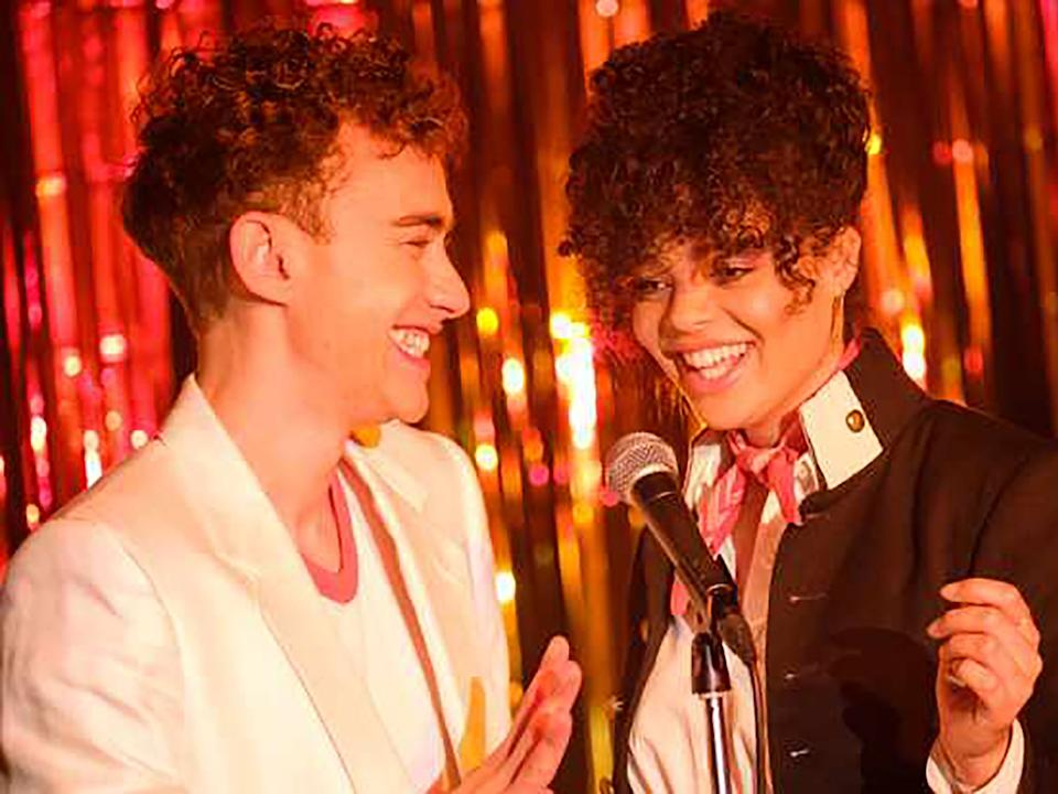 Olly Alexander and Lydia West in It's a SinChannel 4