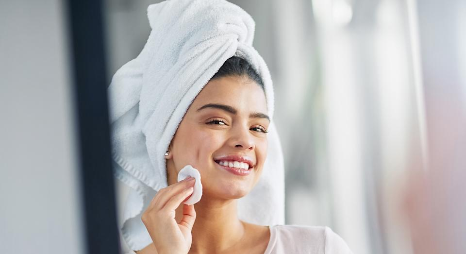 Looking for an alternative to face wipes? Dermatologist Dr. Rabia shares her favourite cleansers [Getty]