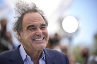 FILE - In this July 13, 2021 file photo Oliver Stone poses for photographers at the photo call for the film 'JFK Revisited: Through the Looking Glass' at the 74th international film festival, Cannes, southern France. (AP Photo/Vadim Ghirda, File)