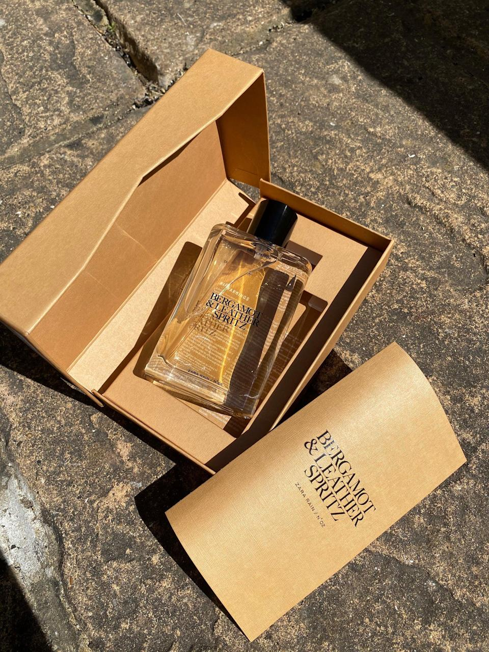 """<strong><h2>No.02 Bergamot & Leather Spritz EDP, £25.99 for 90ml</h2></strong><br>""""I must admit I don't have a type when it comes to fragrance and I'll wear anything that smells nice to me. Whether woody, floral or sweet, I'll don them all and sometimes all in one go if I'm feeling over-enthusiastic! But wow, I am in love with this perfume. The notes are a perfect mix of light sweetness with a real punch of musk. It's a little masculine but I'm very into that. The packaging and bottle are rather divine and for £25.99 it feels so luxe on a reasonable budget. Win win! I sprayed this in the morning and could still smell it on my skin later that evening, so it does last really well. The fragrance changed to a notably more subtle scent throughout the day, but it was still really lovely and interesting. Three words spring to mind with this fragrance: gorgeous, stunning and sexy. My husband complimented me on how great I smelled, but I'm not sure whether this is due to the fragrance or that I'm actually wearing perfume for the first time in forever..."""" <strong>– Meg O'Donnell, art editor.</strong><br><br><br><strong>Zara Rain</strong> No.02 Bergamot & Leather Spritz, $, available at <a href=""""https://www.zara.com/uk/en/n%C2%B002-bergamot-and-leather-spritz-edp-90-ml---3-04%C2%A0oz-p20110271.html?v1=108989261"""" rel=""""nofollow noopener"""" target=""""_blank"""" data-ylk=""""slk:Zara"""" class=""""link rapid-noclick-resp"""">Zara</a>"""