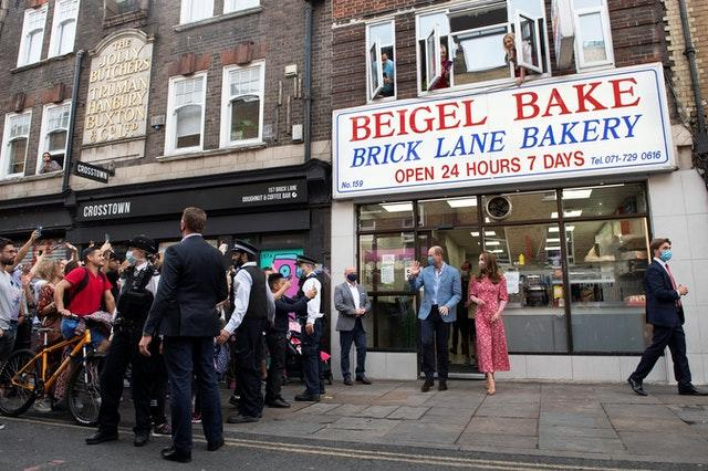 The Duke and Duchess of Cambridge at the Beigel Bake Brick Lane Bakery in London