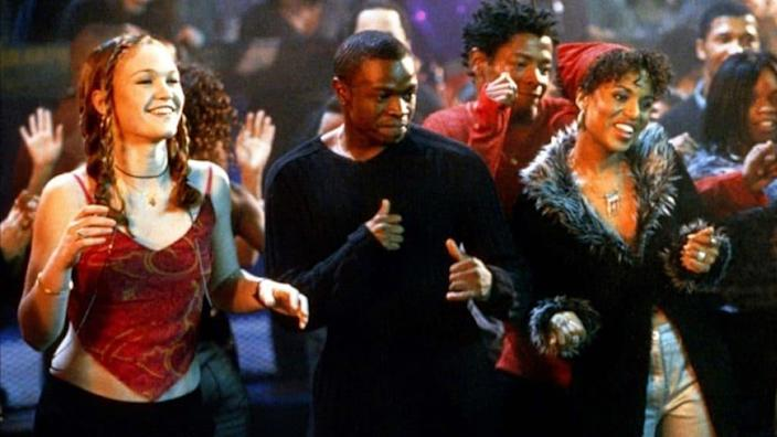 """A scene from the 2001 hit film """"Save the Last Dance"""" captures its stars (from left) Julia Stiles, Sean Patrick Thomas and Kerry Washington. (Paramount Pictures)"""