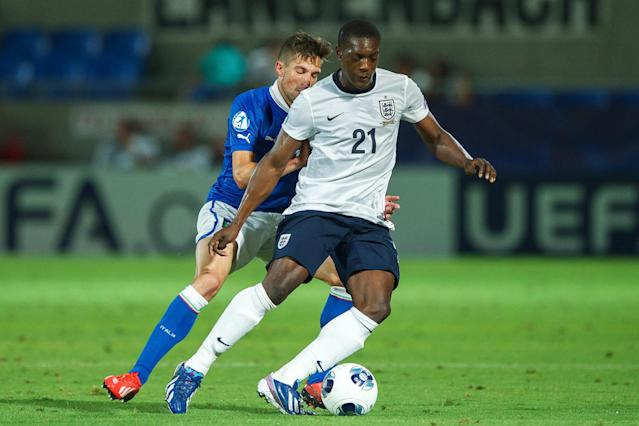 Sordell playing for England's under 21 side. (Credit: Getty Images)