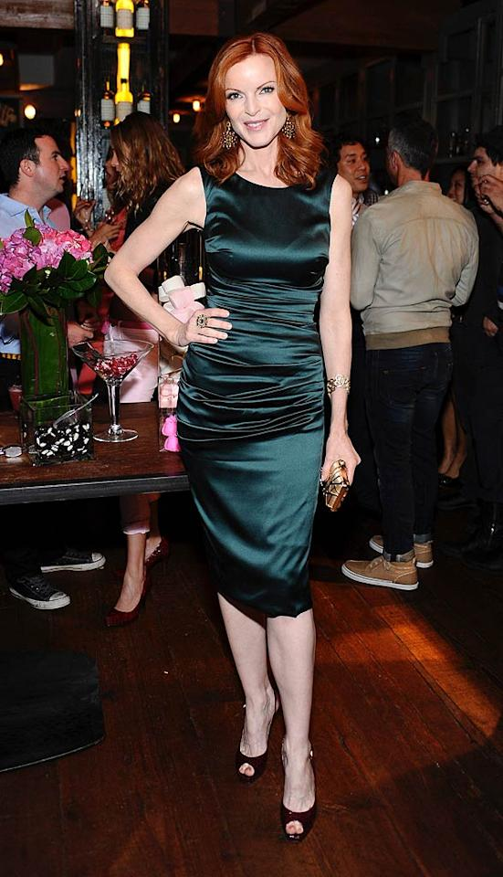 """Wonder if Marcia Cross chatted with Rebecca and Jerry about being busy parents of twins... Stefanie Keenan/<a href=""""http://www.wireimage.com"""" target=""""new"""">WireImage.com</a> - April 5, 2011"""