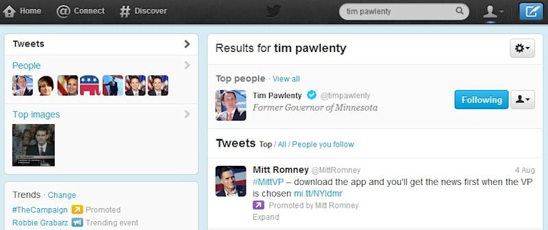 Romney Campaign Uses Twitter Searches to Advertise VP App