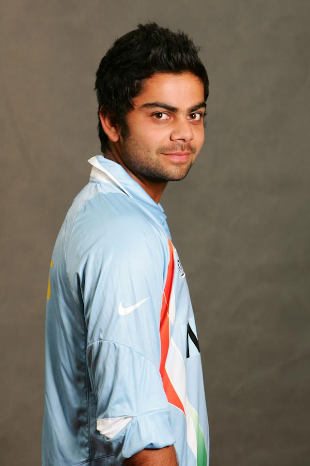 KUALA LUMPUR, MALAYSIA - FEBRUARY 12: Virat Kohli of India poses during the ICC U/19 Cricket World Cup official team photo calls at the Sunway Hotel on February 12, 2008 in Kuala Lumpur, Malaysia. (Photo by Peter Lim/Getty Images)