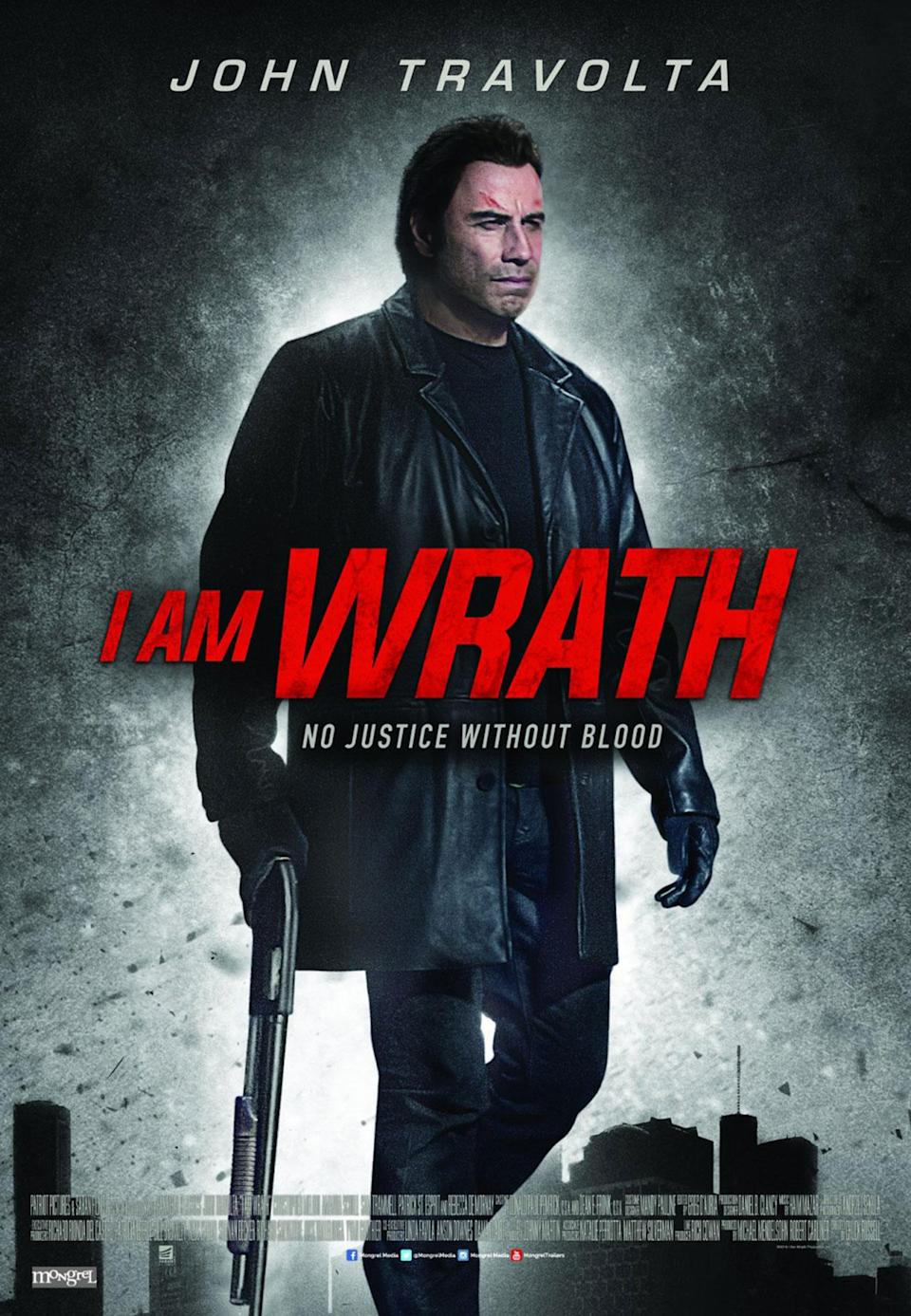<p>No Photoshop fails feature would be complete without an entry featuring John Travolta and his ever-shifting hairline. This overworked poster for the straight-to-DVD 'I Am Wrath' gives the impression of the actor's face being projected on to a potato. (Credit: Lionsgate) </p>