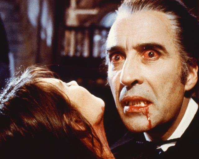 English actor Christopher Lee as the blood-sucking Count in 'Dracula A.D. 1972', directed by Alan Gibson for Hammer Films, 1972. (Photo by Silver Screen Collection/Hulton Archive/Getty Images)