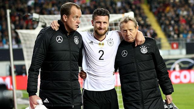 Shkodran Mustafi is facing up to six weeks out with a hamstring injury, adding to Arsenal's defensive concerns.