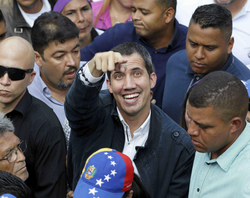 The Latest: IDB will have until March 15 to decide on Guaido