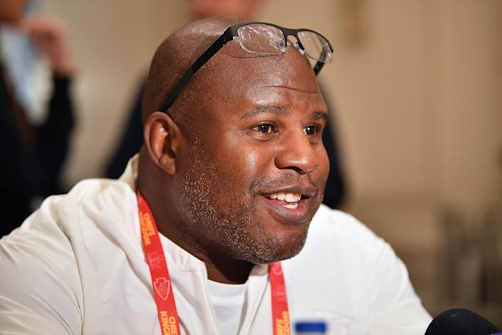 The Chiefs have had a ton of success under offensive coordinator Eric Bieniemy, but he still hasn't gotten a head coaching job. (Photo by Mark Brown/Getty Images)