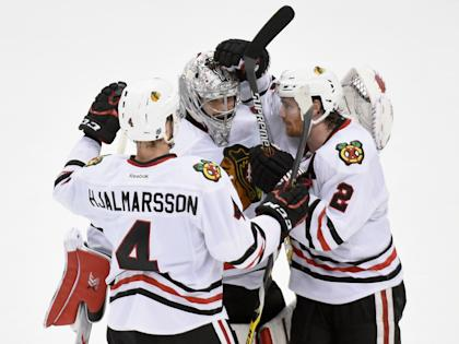 Chicago has a chance to sweep Minnesota and advance to the West final for a third straight season. (AP)