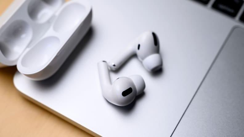 The Apple AirPods Pro are simple-looking but super comfortable in multiple fits.