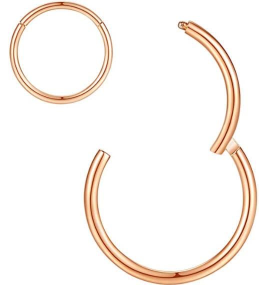 Orangelove Hypoallergenic Nose Rings. (Image via Amazon)