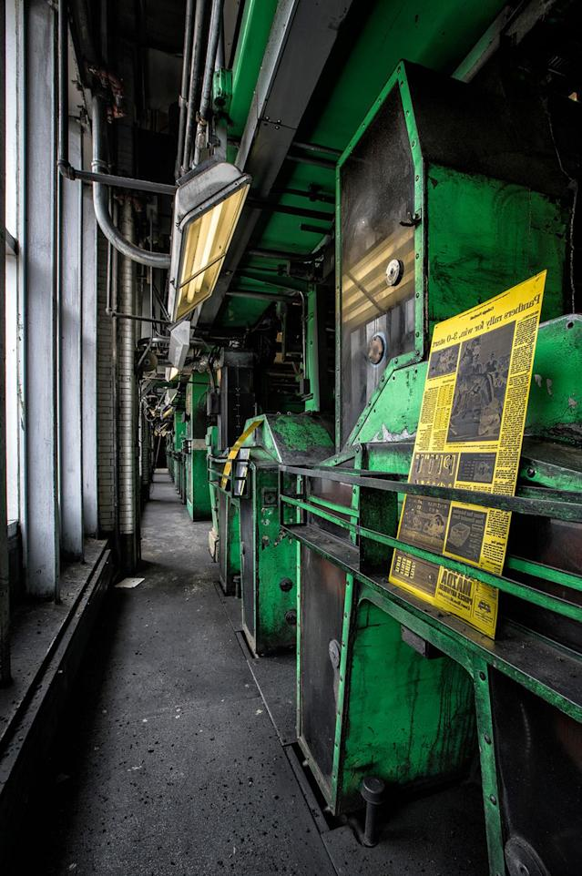<p>The former printing presses of the Pittsburgh Post-Gazette newspaper. (Photo: Abandoned America/Caters News) </p>